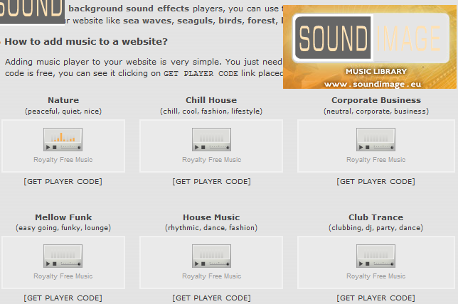 Songs Free of CopyRight for CED Webpage