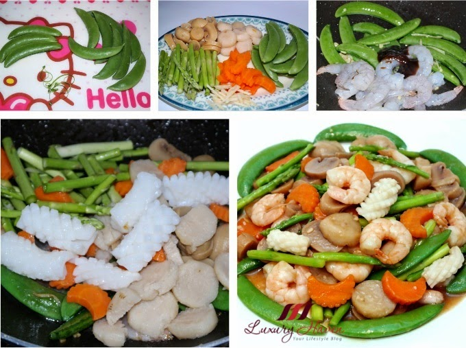 asian style seafood vegetables recipe