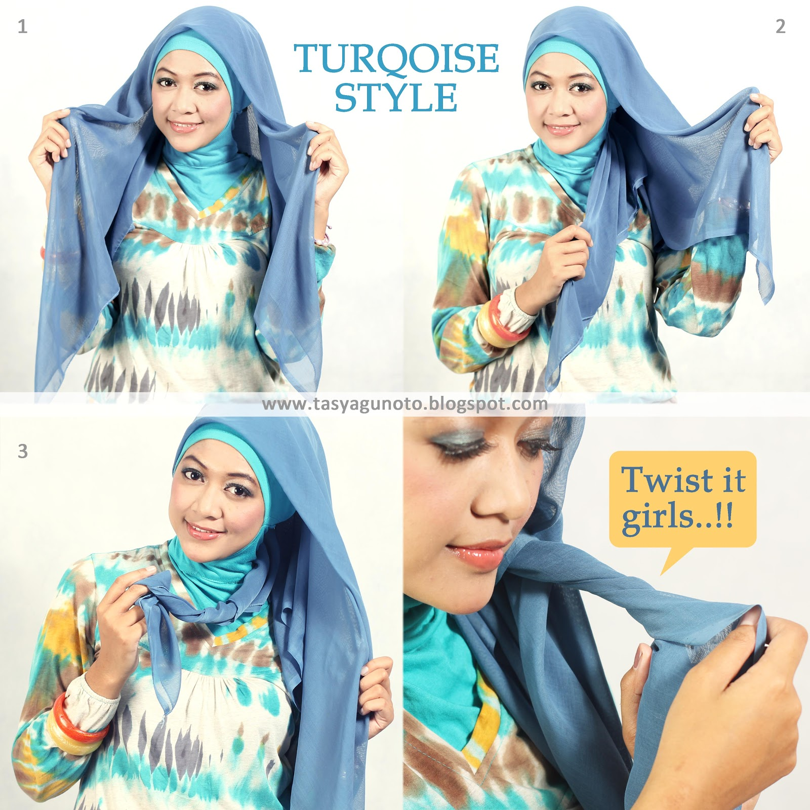Hijab Paris Tutorial : Turqoise Style by Pretty!nVeil