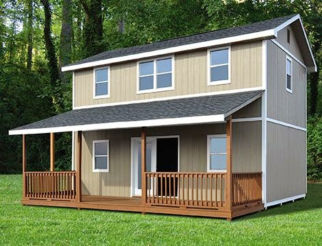 Enlightenment two story tiny house shell for Small two story homes