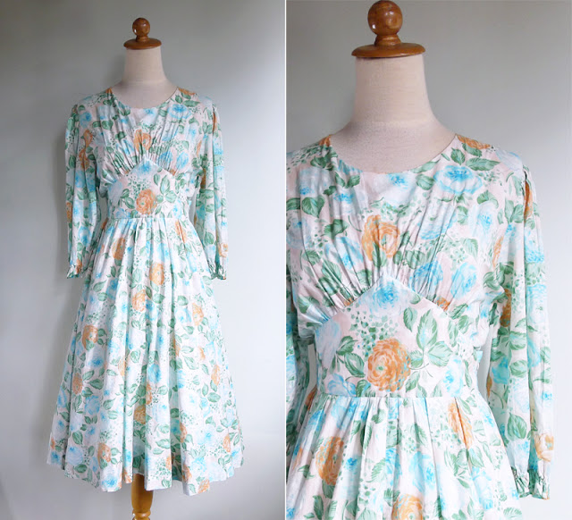 vintage 70's prairie chic dress