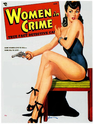 Women in Crime pulp cover by George Gross