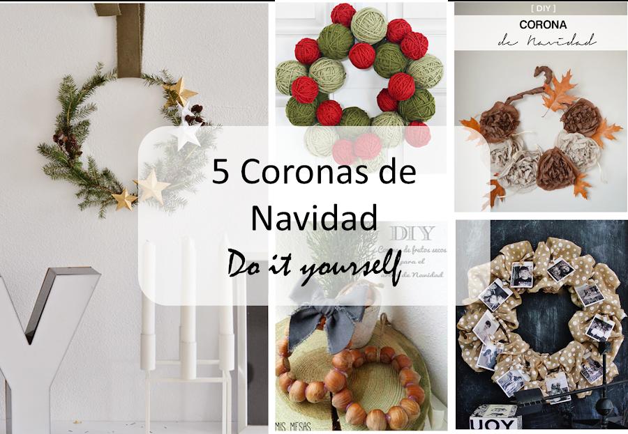5 coronas para navidad decoraci n - Coronas de navidad para puertas ...
