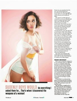 Evelyn Sharma Bikini Photoshoot for FHM India March 2015