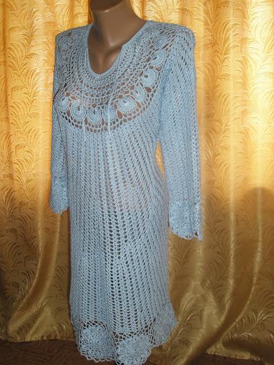 Вязаное платье с длинным рукавом на заказ