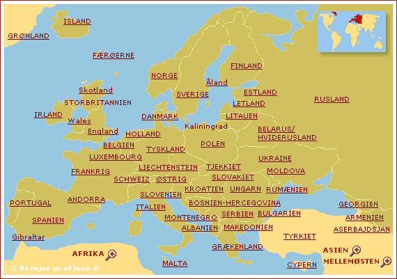 lande i europa og hovedstæder