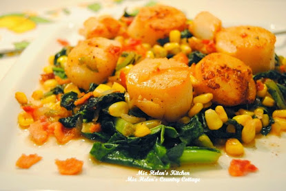 Seared Scallops with Garlic Pepper Sauce