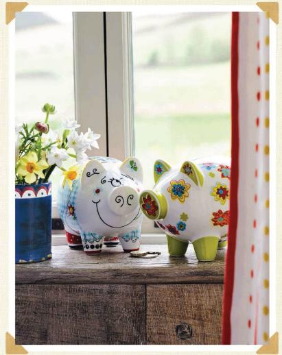 Spring decor in country style