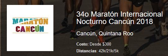 34o Maratón Internacional Nocturno Cancún