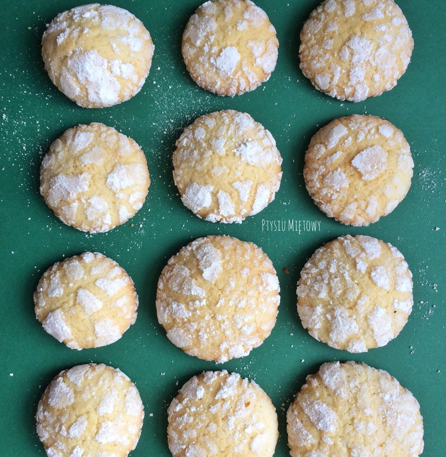 ciasteczka cytrynowe, ptysiu mietowy