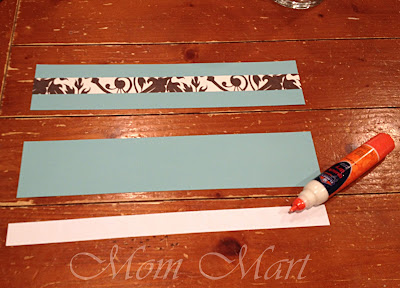 Create the frame for the vases with scrapbook paper