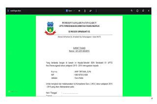Contoh Surat Tugas  UKG  2015 dan Persyaratan Mengikuti UKG  2015