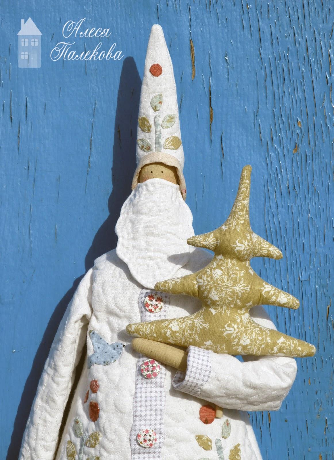 Homemade and Happy, Тильда Санта, новый год и рождество, подарки ручной работы