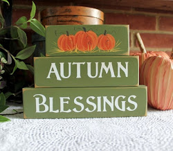 Autumn Blessings Shelf Sitter Blocks