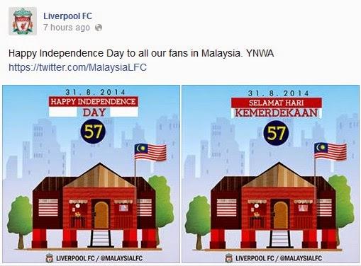 Ucapan kemerdekaan dari Liverpool FC dan Bayern Munich