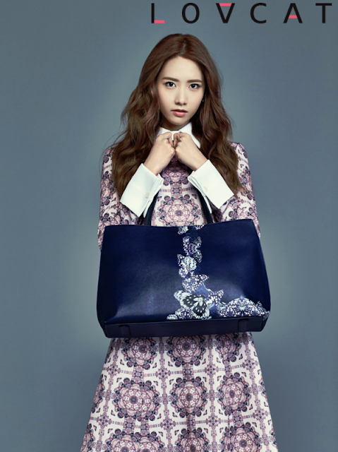 K-Fashion Inspiration: The Blue Lovcat Bag by Yoona