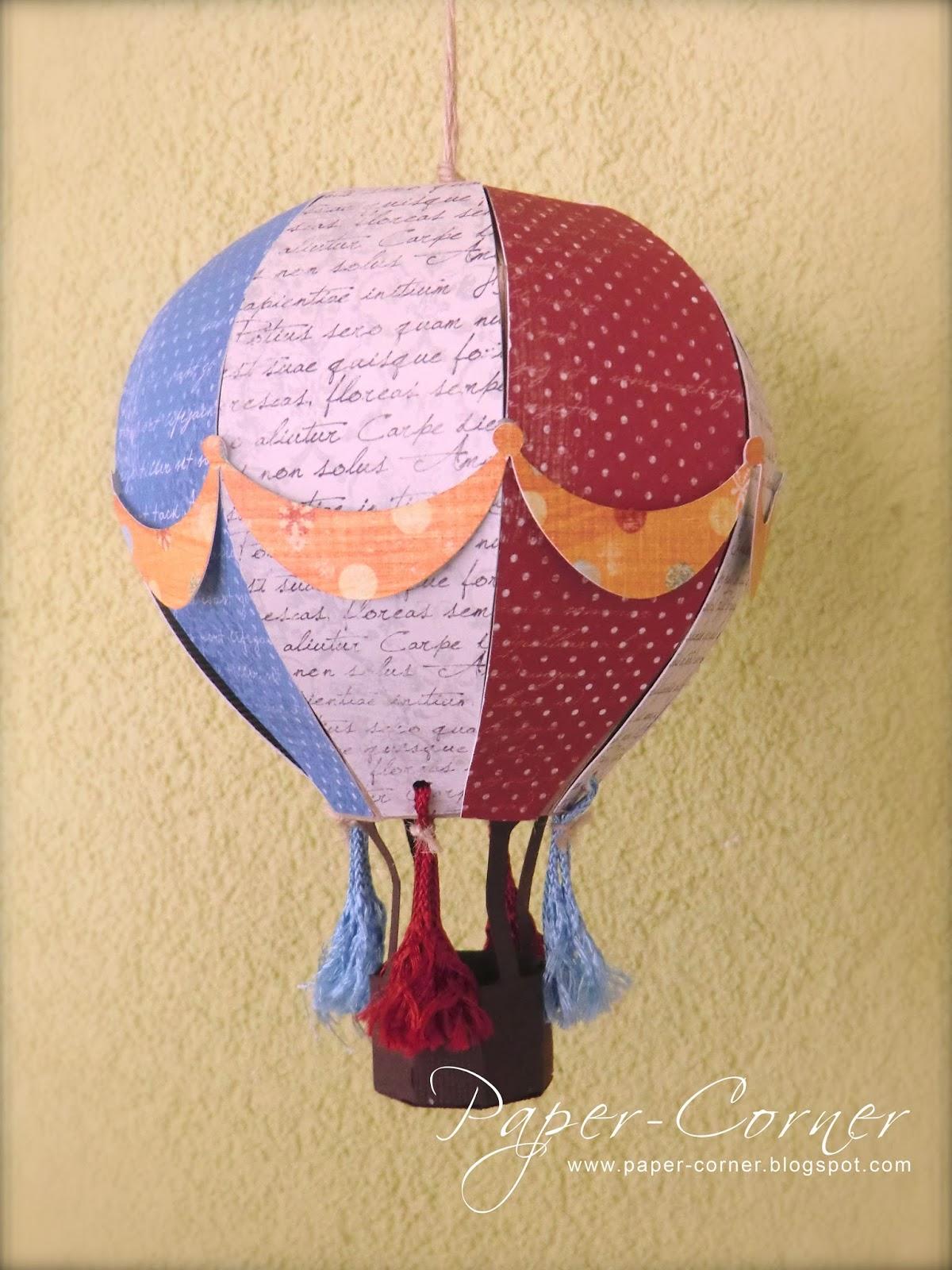 Heissluftballon Papier Basteln Dansenfeesten