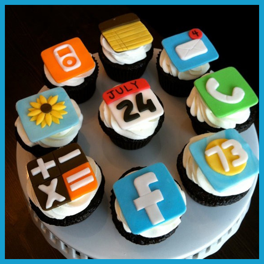 iphone Cupcakeleri iphone tasarımı cupcake kurabiye