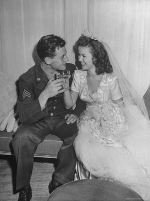 Shirley Temple and John Agar wedding day