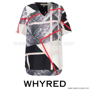 CrownPrincess Victoria Style WHYRED Grace Silk Print Top
