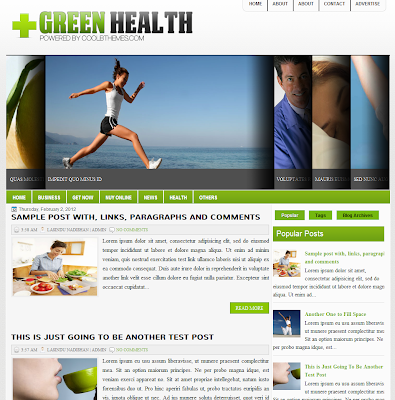 Green Health Blog Template