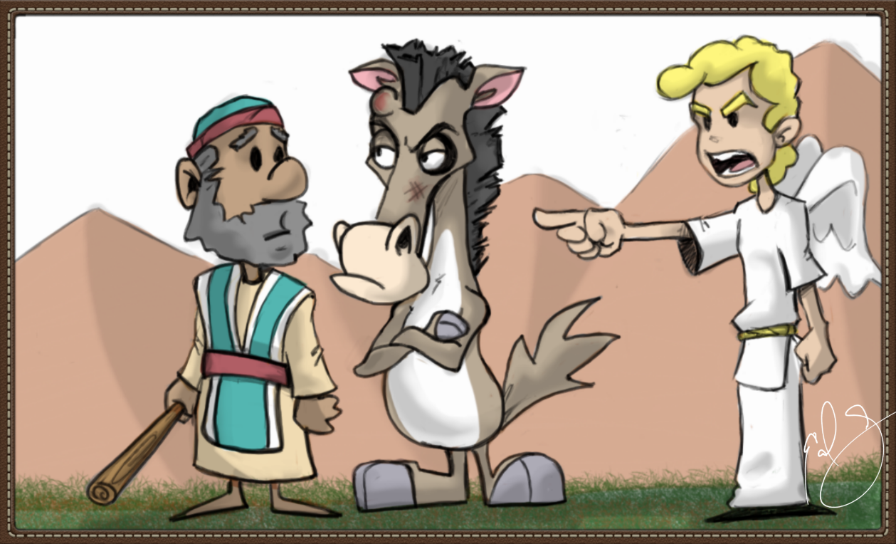 Balaam and his talking donkey 4 9 15