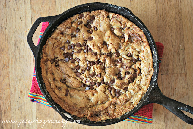 ... whole grain flours now this whole grain skillet chocolate chip cookie