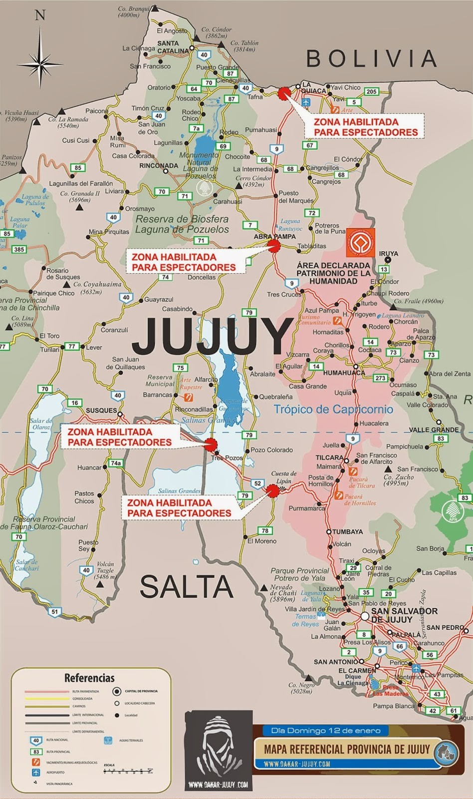 Zona de Espectadores Dakar 2014 Jujuy
