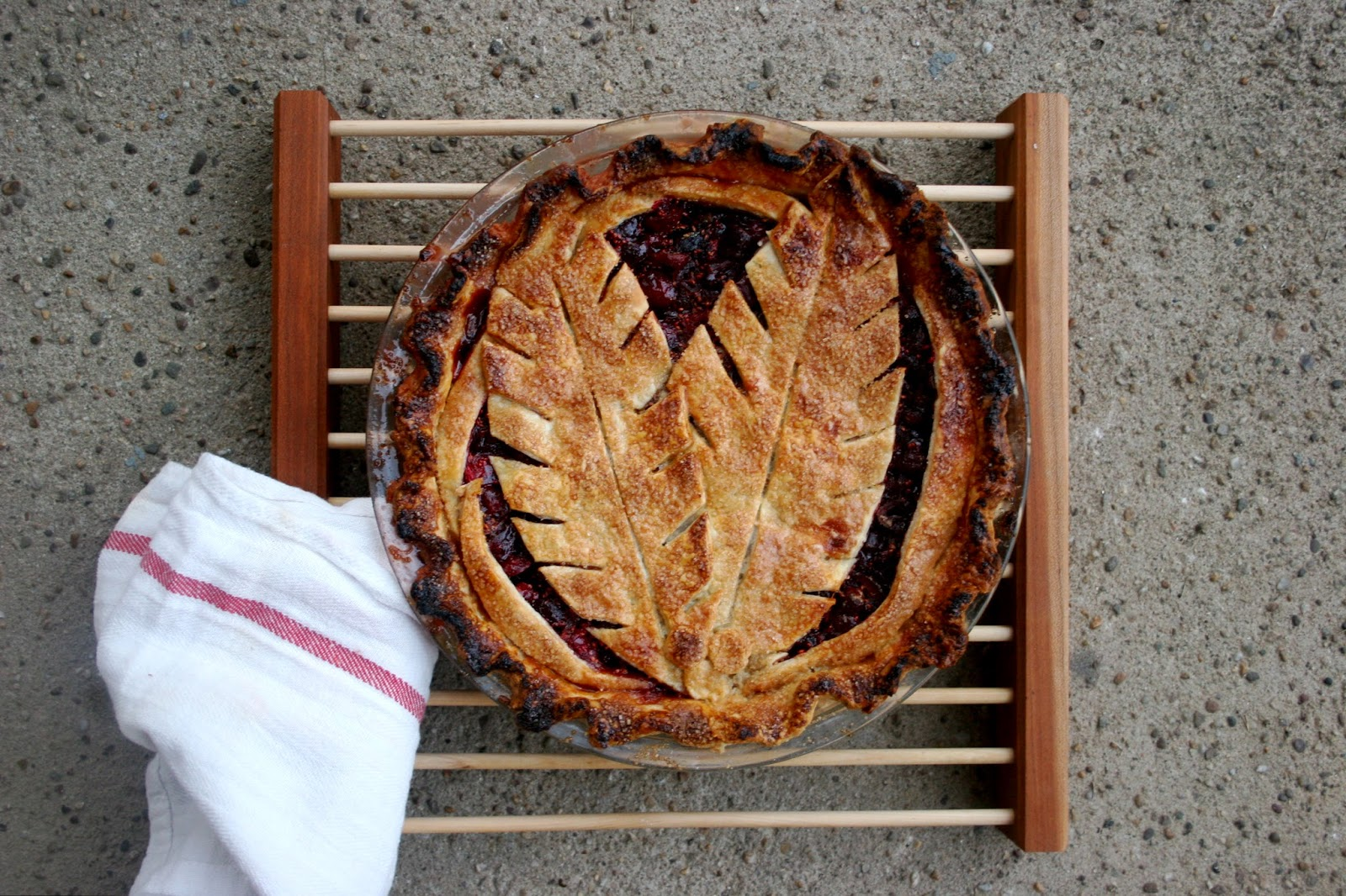 Cranberry Pie with Decorated Crust