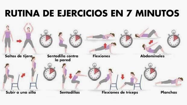 ... tomarnos 7 minutos al día para poner nuestro cuerpo en forma en esta