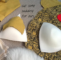 padding for ears on cushion