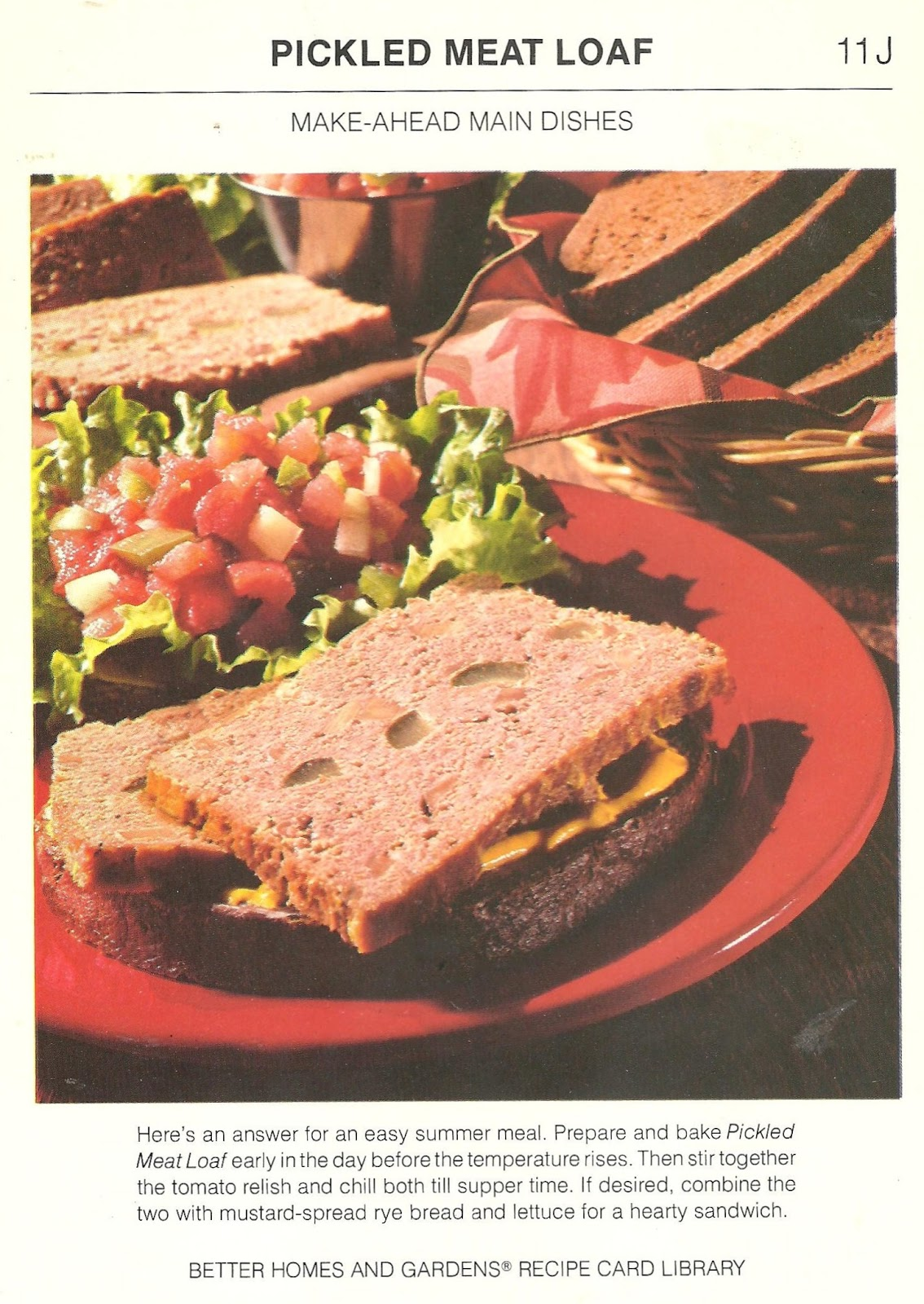 Bad and ugly of retro food new collection and recap recipe cards 19 no i think i will continue to beg the question of what constitutes an easy summer meal i can say that baking a pickled meatloaf early in the day is not forumfinder Gallery