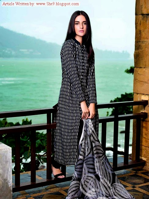 Linen Dress Collection by Gul Ahmed Winter-14