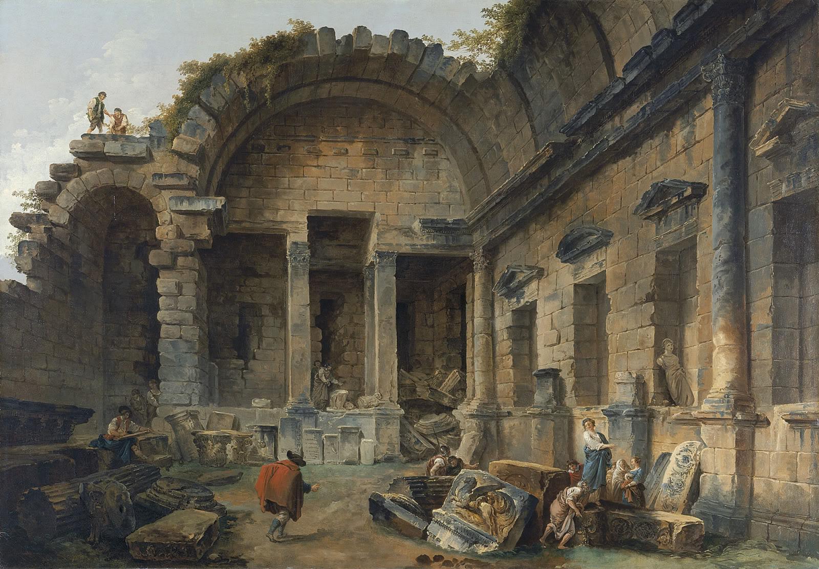 Peinture fran aise du 19 me si cle demolition of the cha teau of meudon 1806 - Introir dijane ...