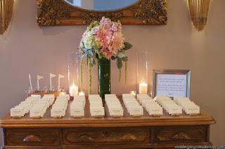 escort card table, wedding reception, Flor Nova