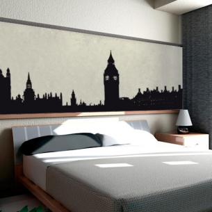 city bedroom wall stickers