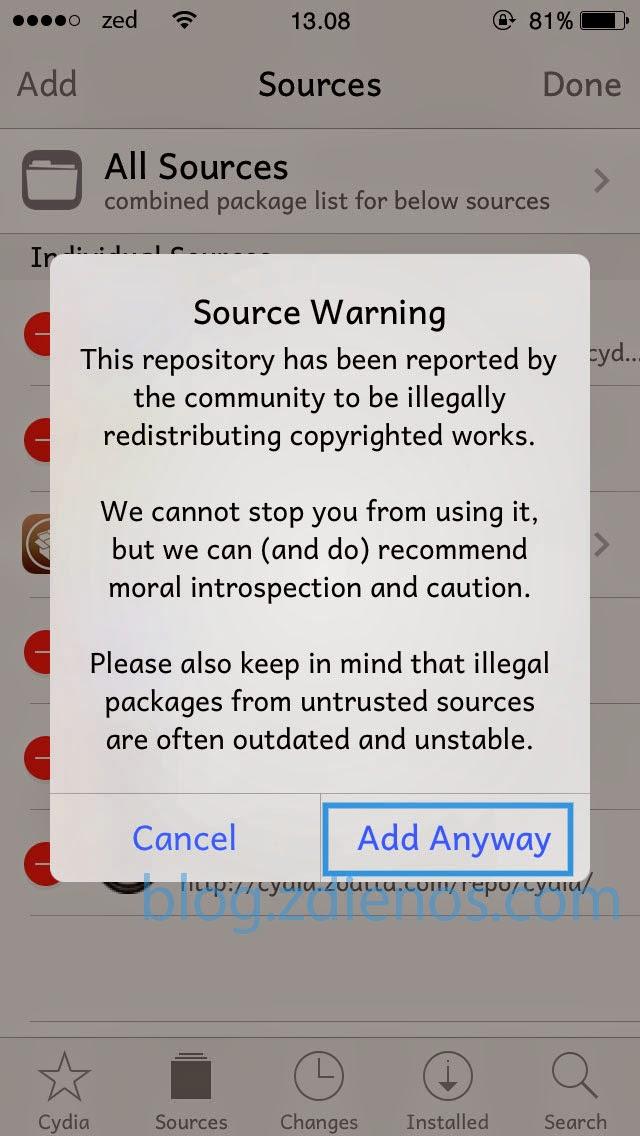 Cara Menambahkan Repository (Repo) pada Cydia - 5
