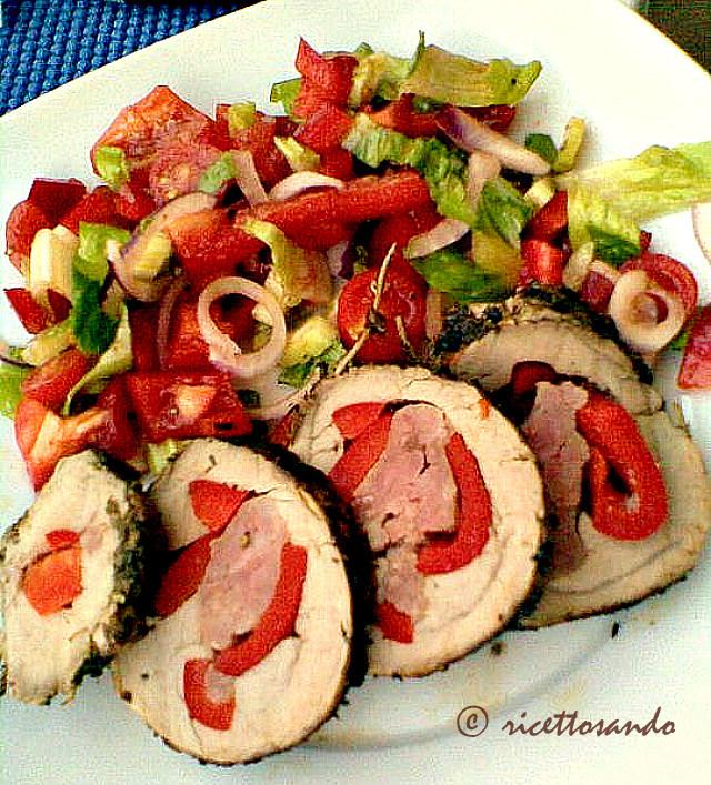 ricetta di Filetto di maiale farcito grigliato