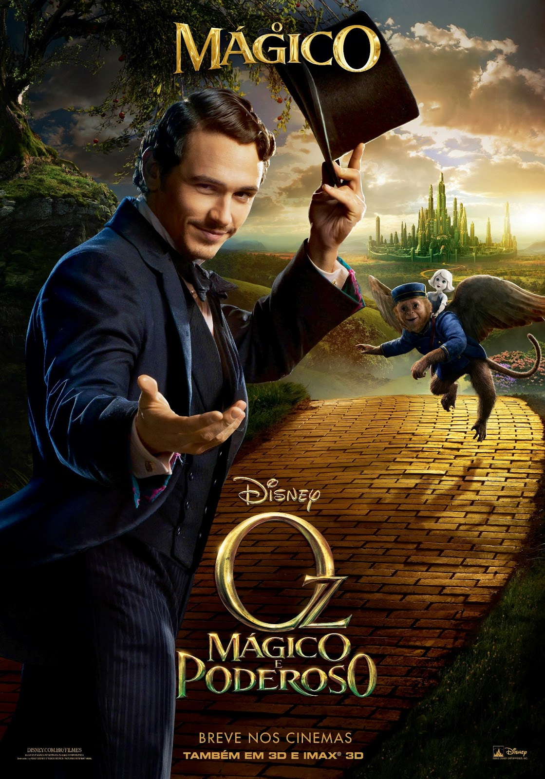 Oz: Mágico e Poderoso (Oz the Great and Powerful) 2013 Dublado   Torrent Torrent Grátis