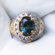 Cincin Batu Permata London Blue Topaz - SP674