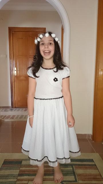 7-8 yaş kız çocuk elbisesi