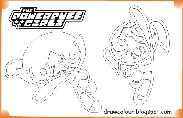 printable-the_powerpuff_girls-bubbles_and_buttercup-coloring-pages