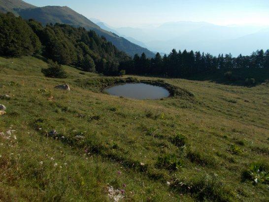 Paesaggio sul sentiero tra Malga Bes e il rifugio Graziani