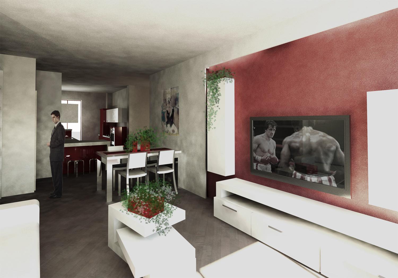Soggiorno verde acqua idee per il design della casa - Idee cucina soggiorno ambiente unico ...