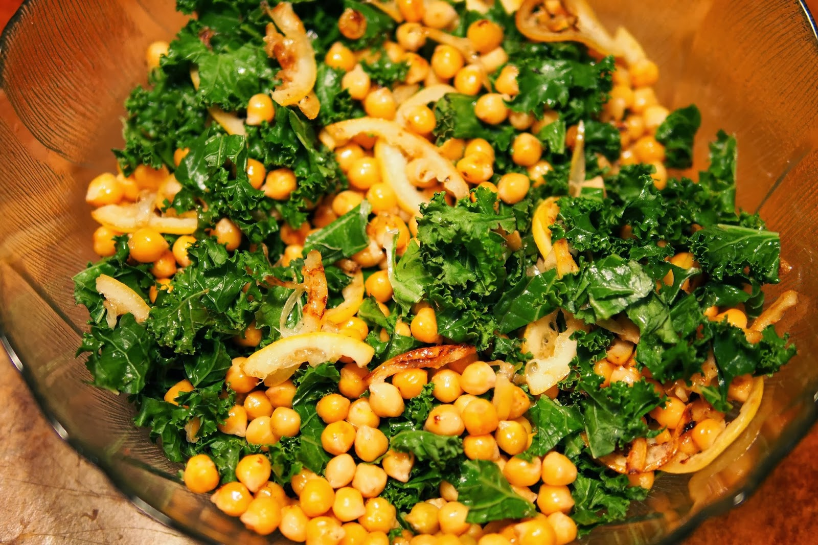 Eat, Belch, Fart: Toasted Kale & Pan Fried Chickpea Salad