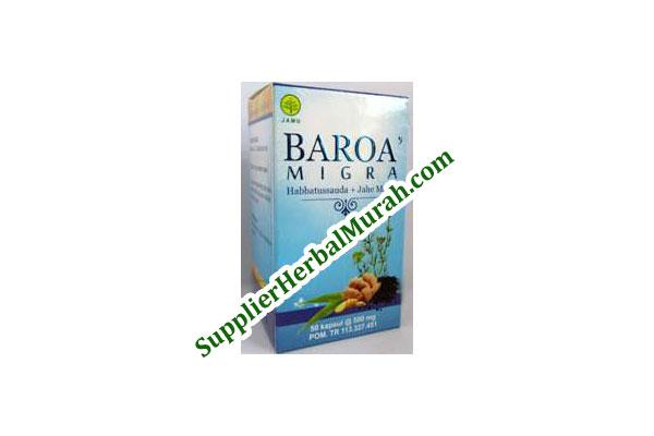 BAROA' MIGRA (Habbatussauda + Jahe Merah)
