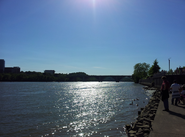 Georgetown water front waterfront Potomac River Rosslyn Arlington VA skyline