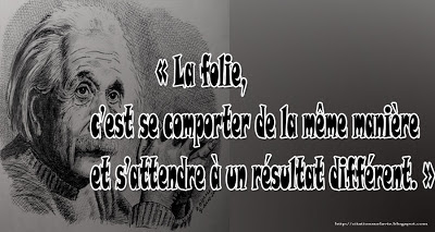 Citation Einstein sur la  folie