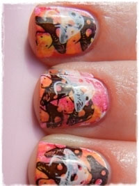 nails Tutorial Decoração de unhas com Esponja e Carimbo