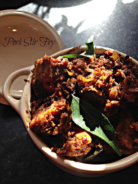 Pork Kalyana varattu   |  Panni peralan   |  Keralan Pork Stir fry  | Kukskitchen